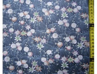 tissu-japonais-bleu-fleur